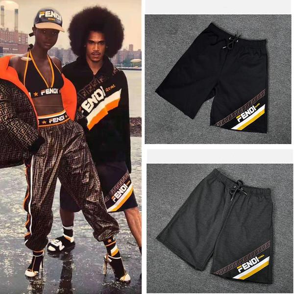Mens FF Shorts Lettera a righe Pantaloncini stampati Sport casuali Pantaloncini larghi Summer Beach Pantaloni corti Progettista di marca Uomini Vestiti A51101