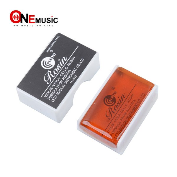 top popular 10 pcs lots Leto Good Quality Violin Viola Cello Rosin Square Shape with Plasic Box Black 2019