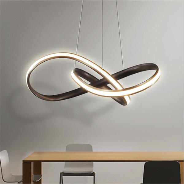 Moderno Acrílico Luces Colgantes Nordic Led Lámpara Colgante Para Sala de estar Comedor Hogar Lámparas Lámparas de Iluminación Simples Lámparas Led