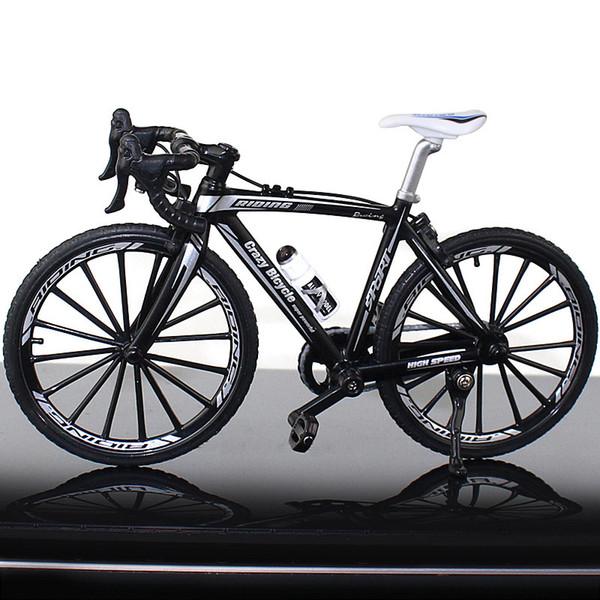 Mango doblado de bicicletas Negro