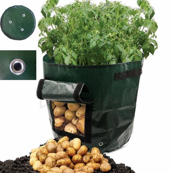 New 35*34cm Movable Grow Planter Bag Potato Cultivation Planting Garden Strawberry Pots Planters Outdoor Planting Grow Bag Planters I492