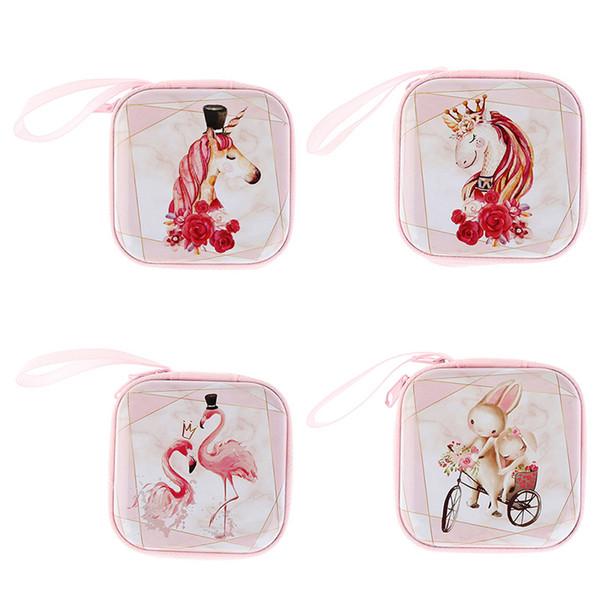2019 Women Coin Purse Cartoon Cute Print Bag Small Pouch Bag for Kids Gift Mini Zipper Coin Storage