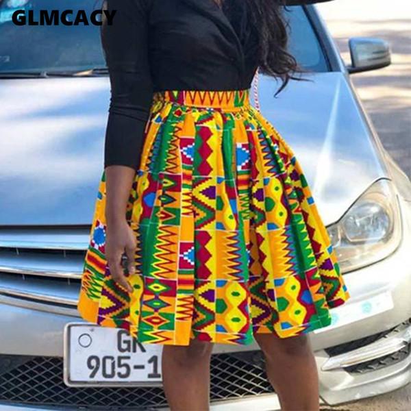 Women High Waist Printed Above Knee Mini Pleated Skirts Plus Size Street Wear Kawaii Music Festival Boutique Women Clothing