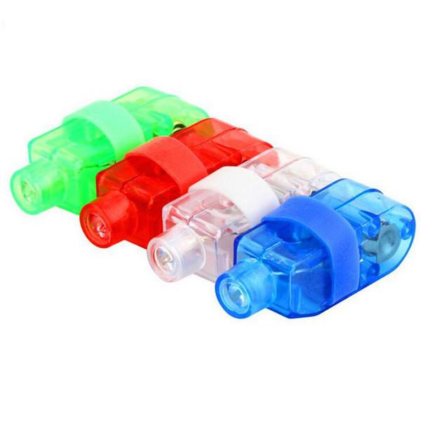 Multi-color Bright LED Finger Lamp Ring gifts Lights Glow Laser Finger Beams Torch For Party KTV Bar gift Light Toys for Kids Children
