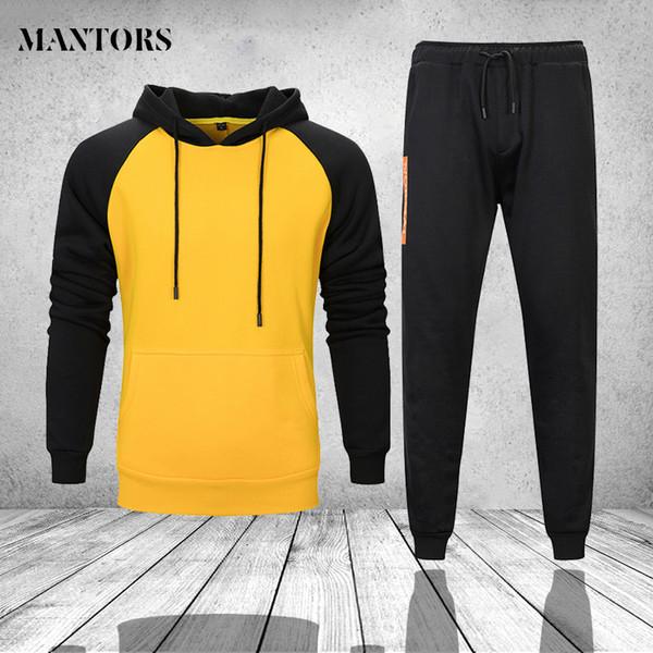Sportswear Herrenbekleidung Fitness Winter Casual Trainingsanzug Herren Hoodies Sets Zweiteiler Sweatshirt + SweatPants Trainingsanzug Für Herren