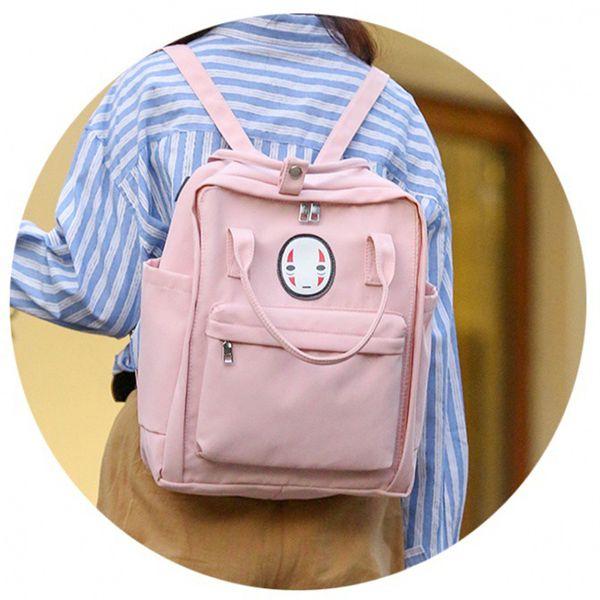 Mode Mini Rosa Frauen Mädchen Rucksäcke Kanken Studenten Reisetaschen Lässig Schultaschen Feste Mochilas Rucksuck