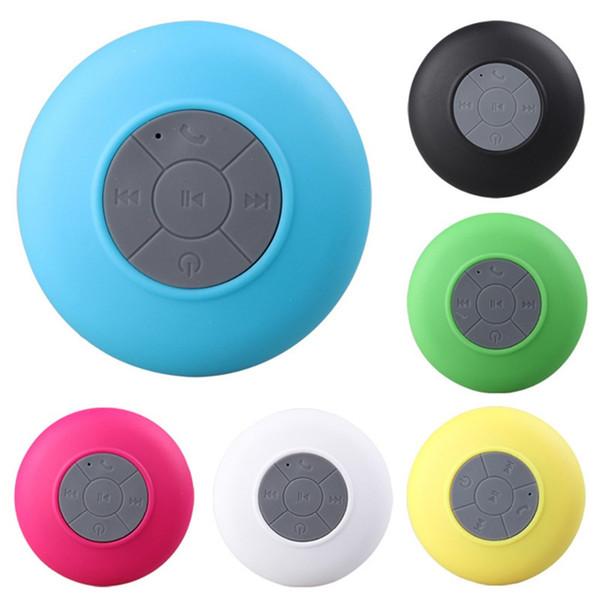 Bluetooth Haut-Parleur Étanche Sans Fil Douche Mains Libres Micro Aspiration Chuck Haut-Parleur De Voiture Haut-parleur Portable mini MP3 Super Avec Crystal Box