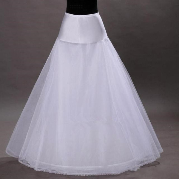 Free Shipping in Stock 1-hoop 2-layer Tulle Aline Petticoat Bridal Wedding Petticoat Underskirt Crinolines for Wedding Dress