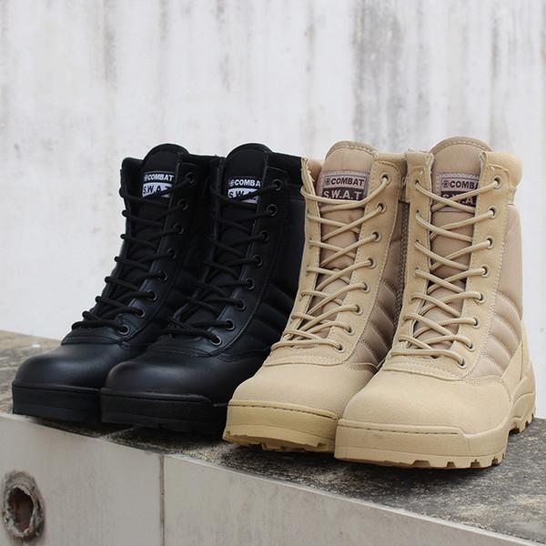Hommes Desert Militaire Tactique Combat Bottes Mâle En Plein Air Imperméable Randonnée Chaussures Sneakers Pour Les Femmes Non-slip Wear Sports Escalade Chaussures