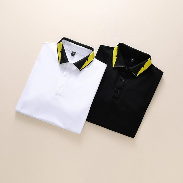 Summer new luxury clothing mens stripes polo embroidery t-shirt lapel collar casual men's t-shirt designer T-shirt Size M - 3XL