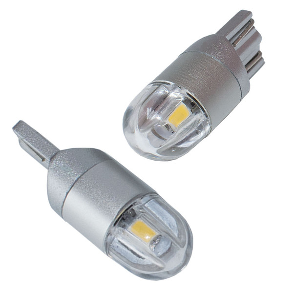 T10 LED Car Light 2 SMD 3030 Marker Lamp W5W WY5W 192 501 Tail Side Bulb Wedge Parking Dome Light Canbus Auto Styling