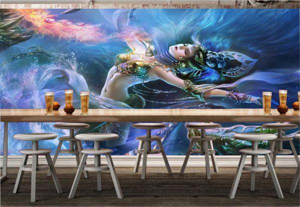 Acheter Bar Gros Ktv Décoration 3d Fond Décran Fantaisie Sexy Dragon Fille Personnalisez Votre Favori Beautiful Wallpaper De 3016 Du Yunlin888