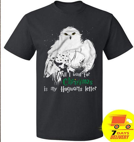 All I Want For Christmas Is My Hogwarts Letter Christmas Shirt Holiday Men Tee