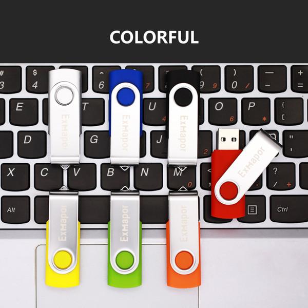 Bulk 800PCS 32GB USB Flash Drives Metal Rotating Memory Sticks Swivel USB Pen Drive Thumb Storage LED Indicator for Computer Laptop Tablet