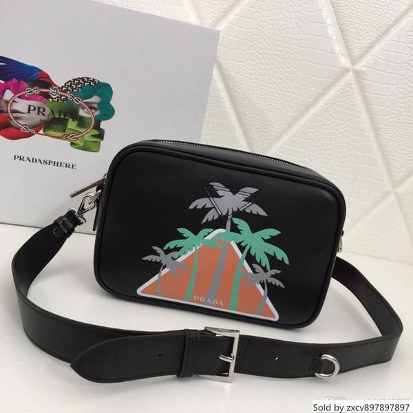 New high-end single shoulder Messenger bag leather camera bag simple atmospheric printing trend black red gray designer bag no1BH093