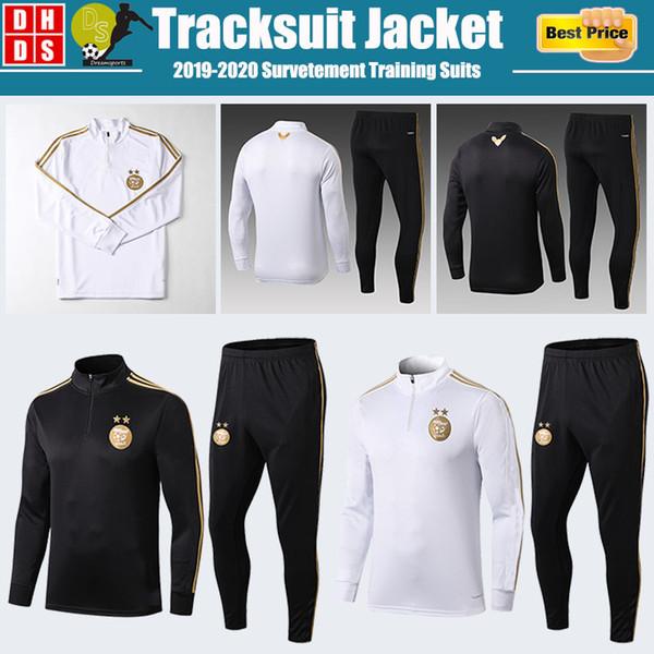 2019 2020 Argelia de fútbol camisa 19 20 Chandal de manga larga capa completa de la cremallera Survetement chándales chándales Conjunto hijos adultos Kit de formación