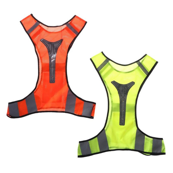 top popular Cycling Reflective Vest LED Running Outdoor Safety Jogging Breathable Visibility 2020