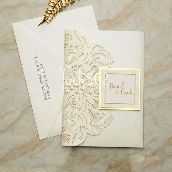 Compre Partecipazioni Matrimonio Boda Real Invitaciones Tarjeta De Invitación Hueco Mariage Carta Invitación De Boda De La Invitación Con Rsvp A 0 88