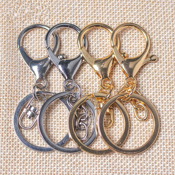 Newest 30pcs/lot Key Ring Chains Portable 30mm Lobster Clasps Swivel Trigger Clips Snap Hooks Bag Stainless Steel Travel Buckle accessories