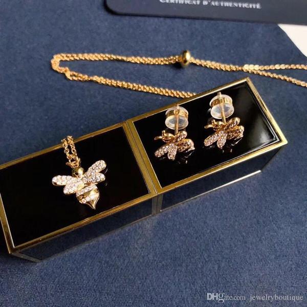Halsketten-Markennamenshalskette der neuen Ankunft S925 der Sterlingsilber-Bienenform 2018 hängende für Frauen, die Geschenkschmucksachen Wedding sind Freies Verschiffen PS5119