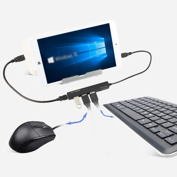 ACASIS H027 Mobile Tablet PC Charging Cable OTG Micro USB HUB 3Ports Simultaneous Charging Power Transmisson Cable