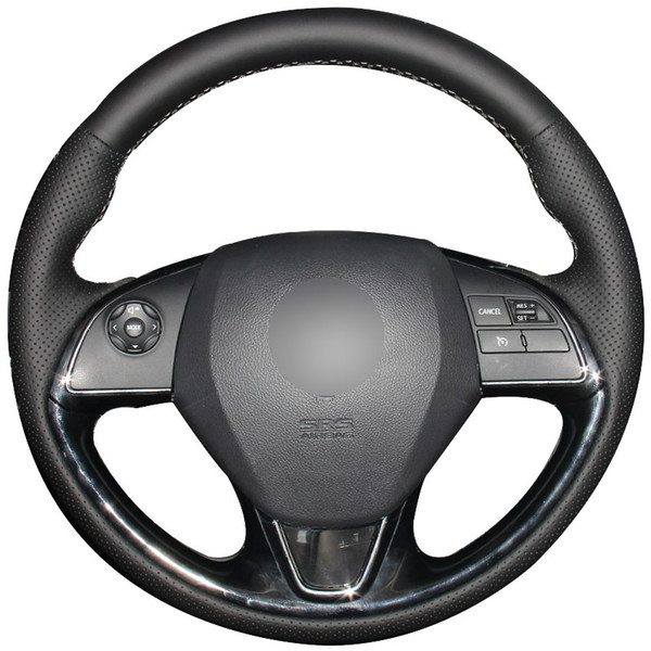 Black Synthetic Leather Car Steering Wheel Cover for Mitsubishi Outlander ASX 2016