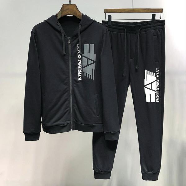 2019 autumn new men's long sleeve Two Piece Set JB19970125977