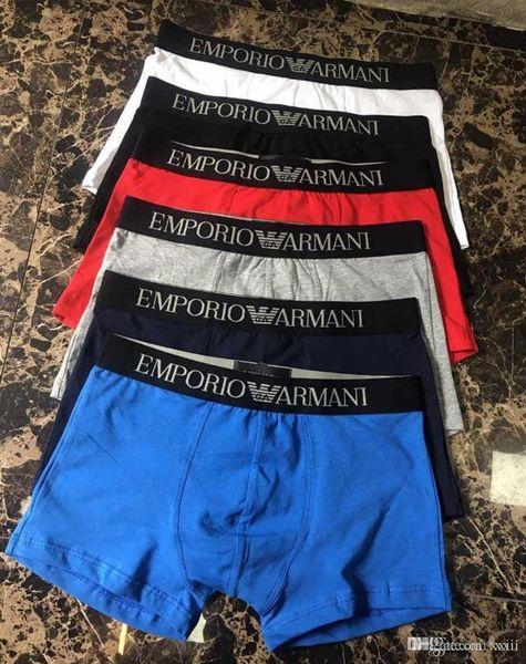 19ss homens underwear boxers de algodão 6 cores m-xxl letra respirável cuecas calções marca de design cuecas apertado cintura pop