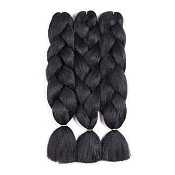 Kanekalon Extensões de Cabelo Trança Jumbo Tranças De Torção De Alta Temperatura De Crochê Com Pequenos Presentes Livres 24 polegada
