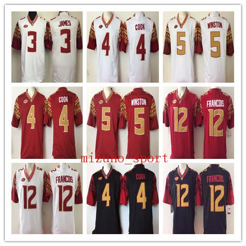 1ca7294477d NCAA Mens Deondre Francois college jerseys 12 Deondre Francois 4 Dalvin  Cook 5 Jameis Winston 3 Derwin James Football Jerseys good quality