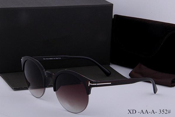 lujo superior calidad de dicha cantidad nueva de la manera 0392 0394 Tom gafas de sol para mujer del hombre Erika Gafas Primera marca Ford gafas de sol con la caja original 352 gf