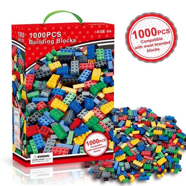 top popular 1000 Pieces Model Building Kits Classic Blocks DIY Toys Creative Bricks Bulk Figures Educational For Children Kids Compatible All Brands 2020