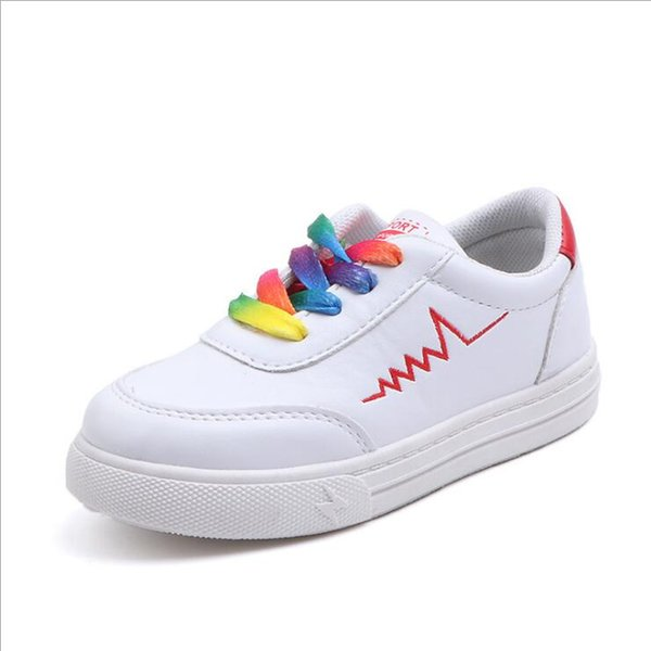 2019 kids sneakers Korean fashion White Breathable casual Skateboarding Shoes Sport footwear baby boy Girls shoes kids shoes