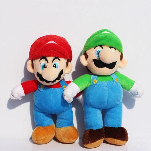 """2019 New Super Mario Plush Toys Luigi /& Mario Doll Stuffed Animals Toy 10/"""""""