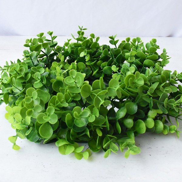 Fake Flower Grass Garland Simulative Portable Green Plant Ring Wedding Home Door Hanging Decoration Party Supplies