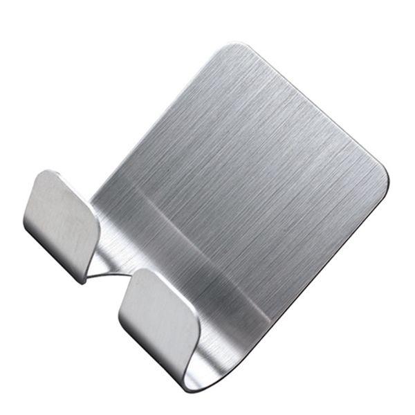 3M Self Adhesive Hooks Heavy Duty Wall Hooks Reusable 304 Stainless Steel Waterproof Holder Hanger for Robe Coat Towel Keys Bags Home
