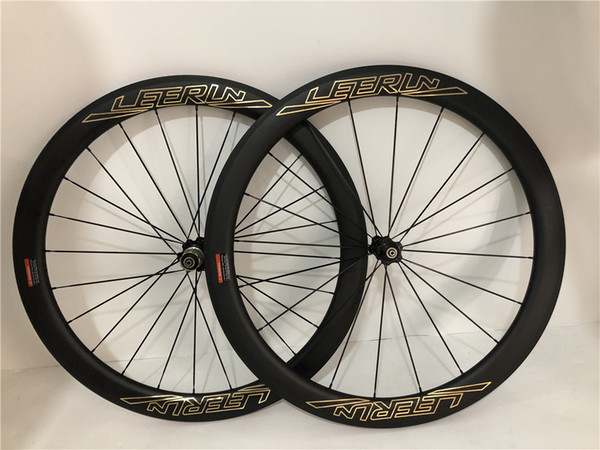 LEERUN 700C only 1445g carbon bike wheels road bike 38mm 50mm tubular 25mm width rims front and rear wheel set with Powerway hub aero spokes