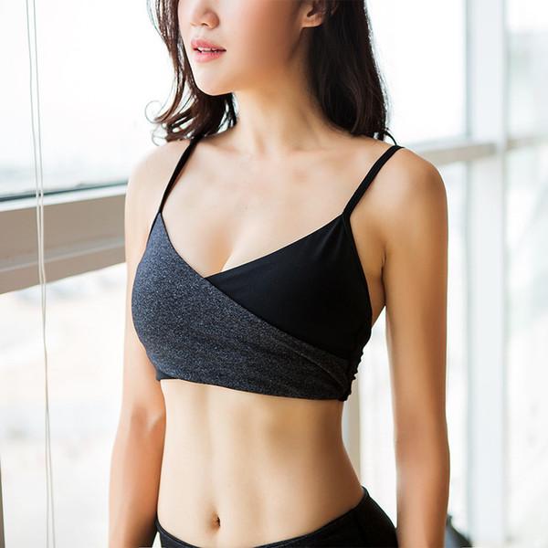 Schwarzweiss-Asche Rechtschreibung Farbe Bodybuilding-Lauf Nichts Stahlring Schöne Rückenbewegungs-BHs Yoga-Unterwäscheweste