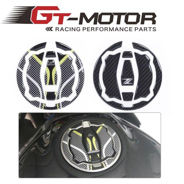 GT Motor - Fit for Z900 Z 900 2017 Tank Gas Cap Pad Pad Filler Cover Sticker decals 3D Carbon Fiber