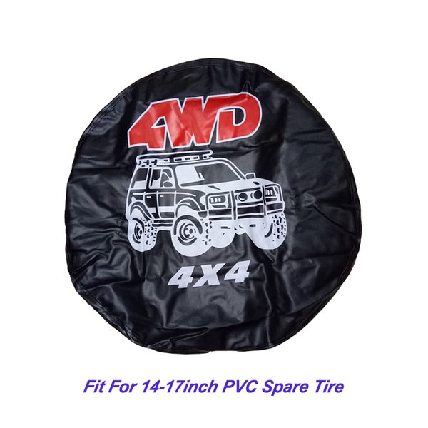 Accessoires de voiture Couverture de pneu de roue de secours 4WD 4X4 Heavy Duty PVC Leather Universal Spare Tire Cover convient à Mitsubishi Pajero