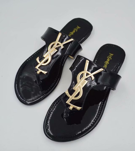 jingshen1234 / Channel Women Genuine Leather brand new slippers cut out summer beach dg sandals Fashion outdoor slippers indoor flip flop tory