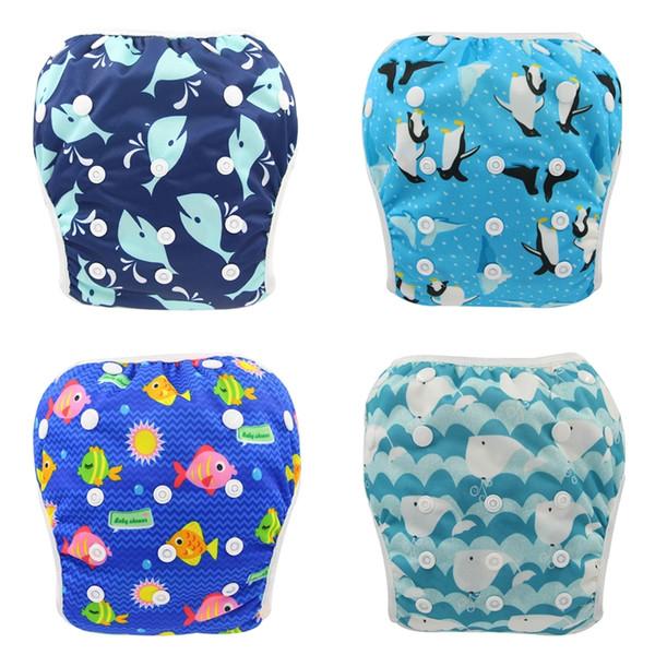 best selling New Cloth Diapers Swimwear for Boys&Girls 2020 Reusable Board Short Trunks Baby Swim Diaper Cloth Diapers Baby Nappies Unisex Training Pant