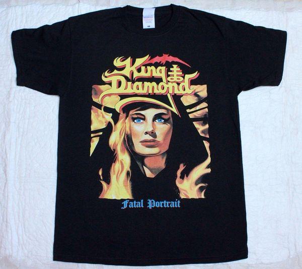 KING DIAMOND FATAL PORTRAIT'86 MERCYFUL FATE DEATH THRASH NUEVA CAMISETA NEGRA