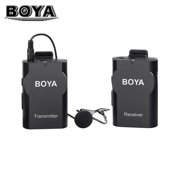 BOYA BY-WM4 Professional Condenser Microphone Lavalier Microphone with Wind Protection for Smartphone DSLR Cameras Camcorders PC