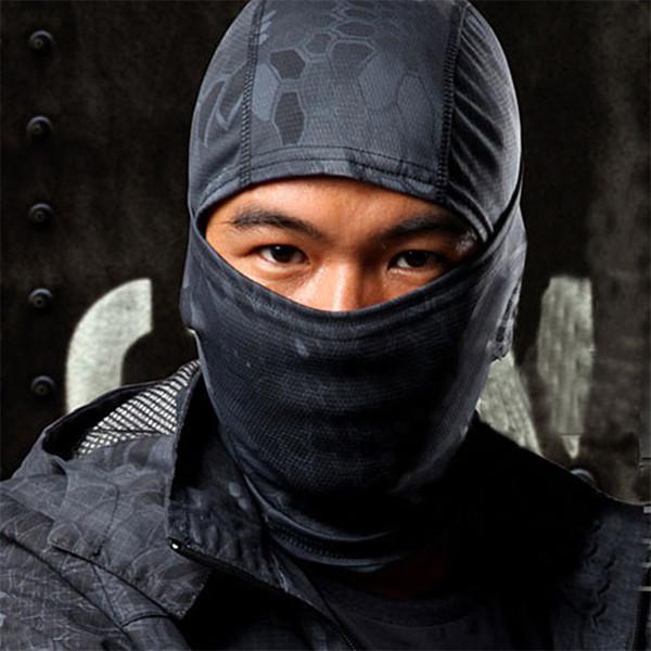 Máscara 1PC camuflaje del ejército de ciclo de la motocicleta del casquillo del pasamontañas sombreros de la cara llena 2018 # 22