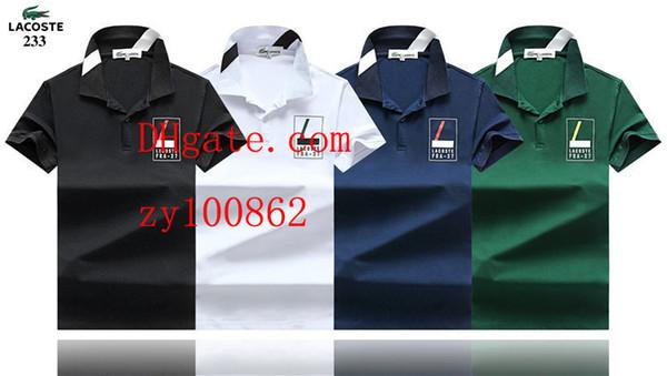 2019 moda erkekler marka T Shirt yaka baskılı kısa kollu polo gömlek erkekler casual Tee gömlek homme Yüksek kalite yaz erkek giyimi BC-2