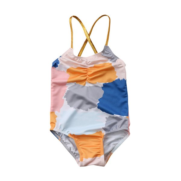 Kid Baby Girls Floral Summer Swimwear Swimsuit Bathing Suit One-Piece Bikini Beach Clothes Outfits