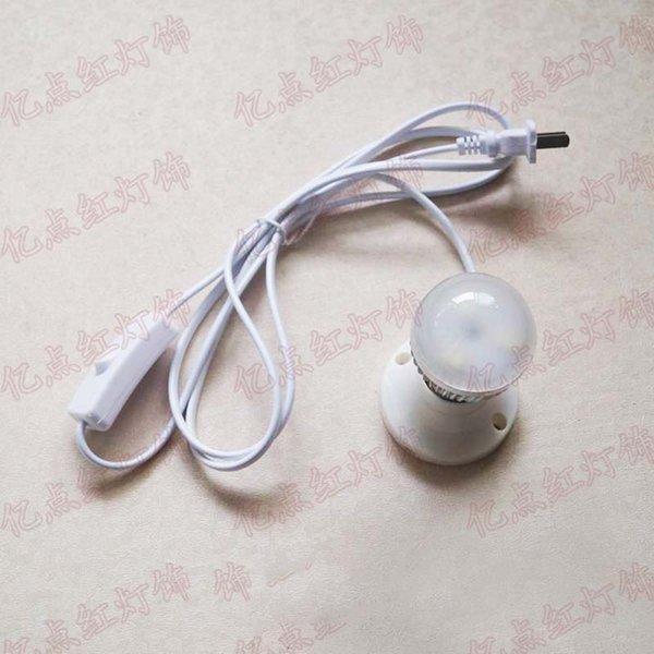 E27 حامل مصباح لمبة + 3W الضوء الأبيض