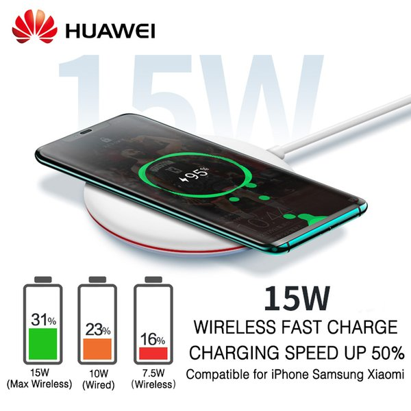 Qi Wireless Charger Original Type C Cp60 Wpc Smart 15w Max Huawei Mate 20 Pro Rs Compatible For Iphone Samsung Xiaomi J190427