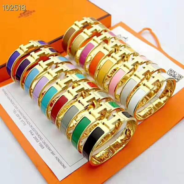 2019 ювелирные изделия новый бренд дизайнер 12 мм браслет женская титановая сталь модный браслет 3 цвет браслет роскошные ювелирные изделия бесплатная Shipping76bb #